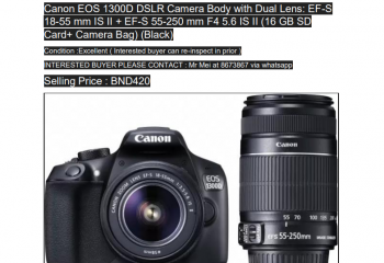 Canon EOS 1300D camera for sale