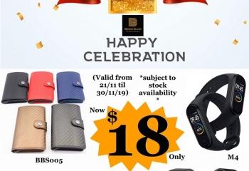 1st Year Anniversary Celebration (Valid till 30/11/19)