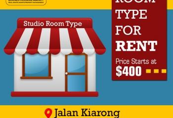 Studio Room Type For Rent