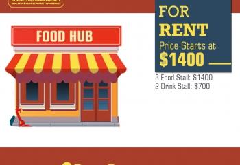 Food Hub Stalls For Rent