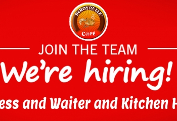 We Are Hiring Waitress and Waiter and Kitchen Helper