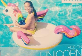 Inflatable Unicorn Swimming Float