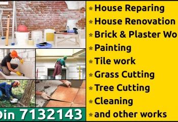 House renovation, plumbings & wiring.