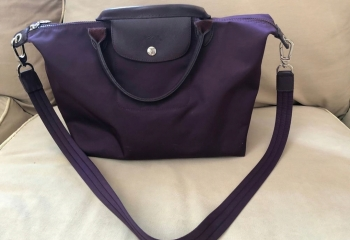 Longchamp Le Pliage (Medium) in Purple