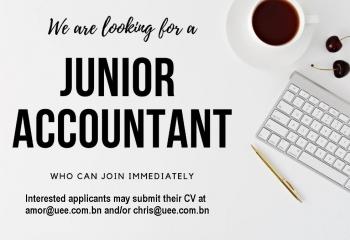 Job Vacancy – Accountant (B$900-1,300 depending on Qualification)