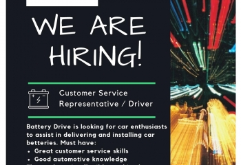 Looking for Customer Representative/Driver. Petrolheads encouraged to apply.